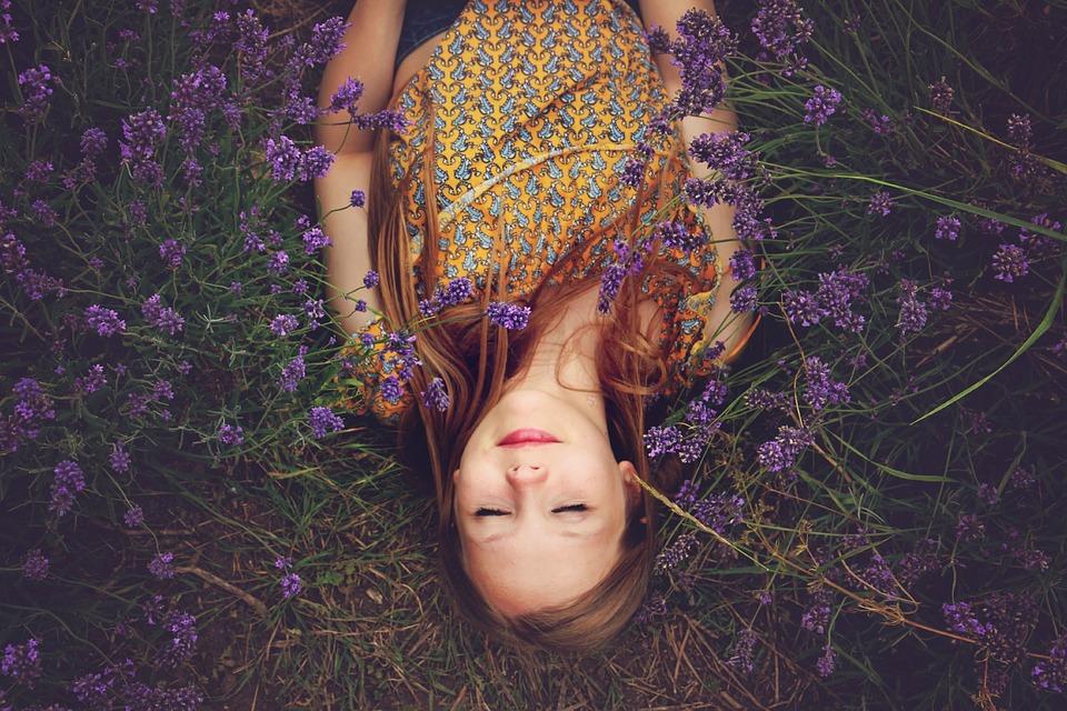 Meditation im Lavendel